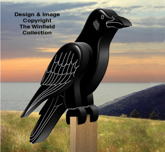 3d Bird Woodcraft Patterns 3d Crow Pattern