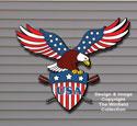Patriotic Eagle Color Poster