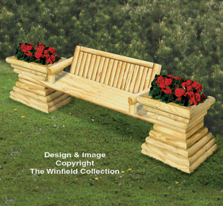 Pleasing Planter Woodworking Plans Landscape Timber Garden Bench Plan Creativecarmelina Interior Chair Design Creativecarmelinacom