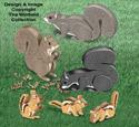 3D Squirrels and 3D Chipmunks Pattern Set