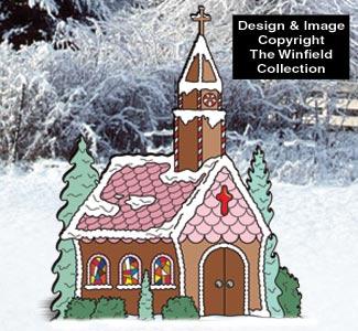 All Christmas Gingerbread Church Pattern