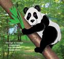 3D Panda Bear Pattern