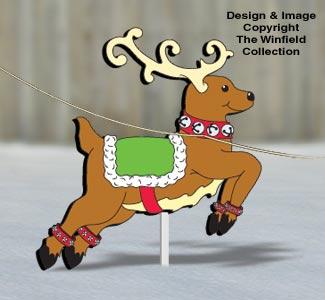 sleigh and reindeer pattern