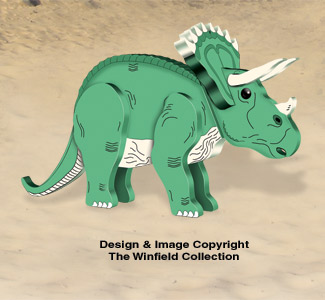 3D Triceratops Pattern