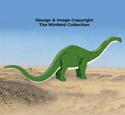 3D Apatosaurus Pattern