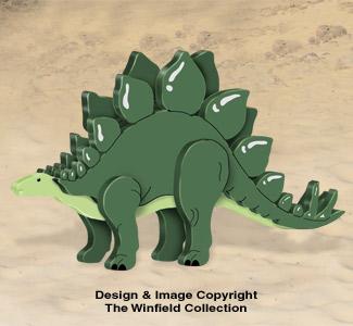 3D Stegosaurus Pattern