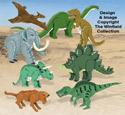 3D Dinosaurs Pattern Set