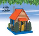 Log Cabin Bird Abode Pattern