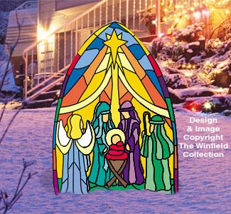 All Christmas Dazzling Nativity Pattern