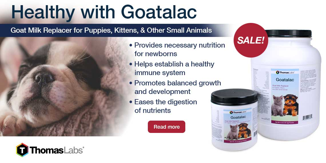 Goatalac Milk Replacer for Dogs and Cats