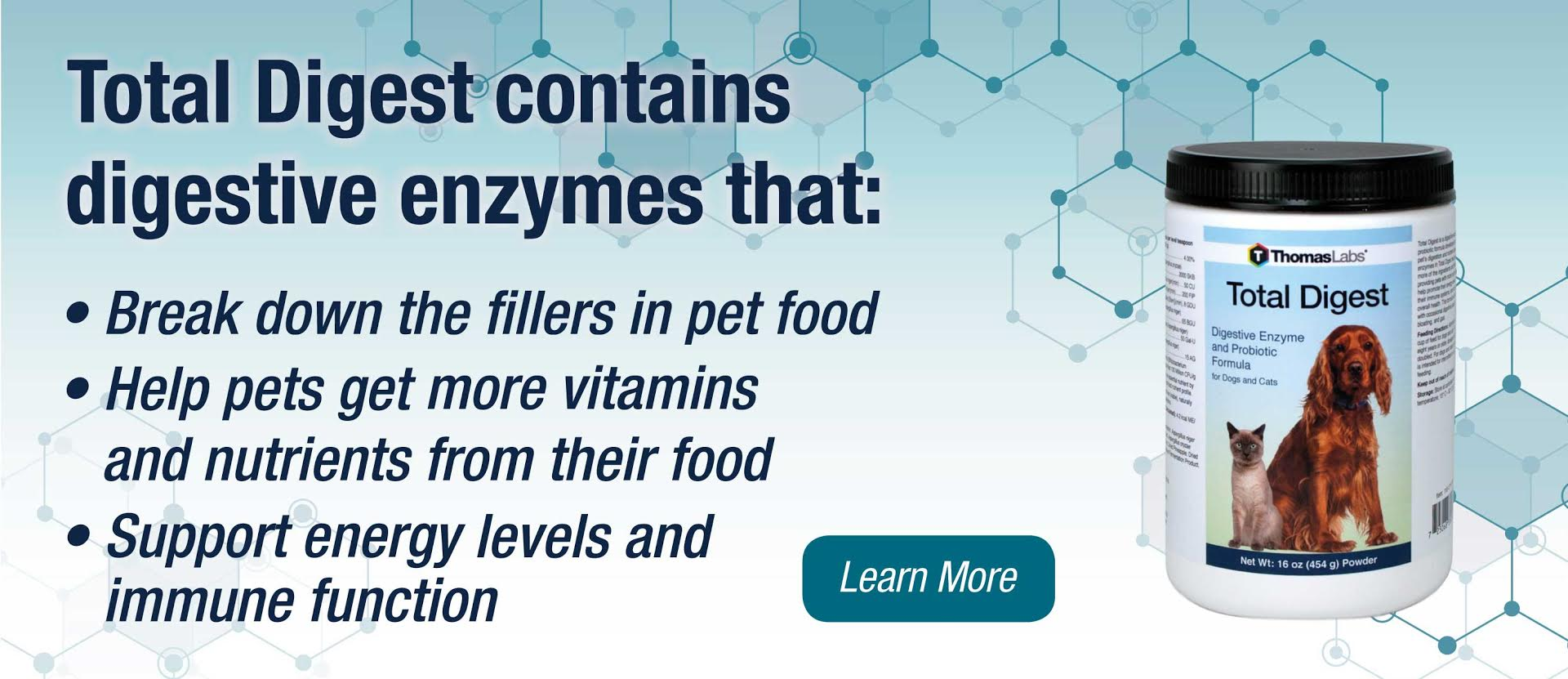 Total Digest Daily Dog and Cat Enzymes