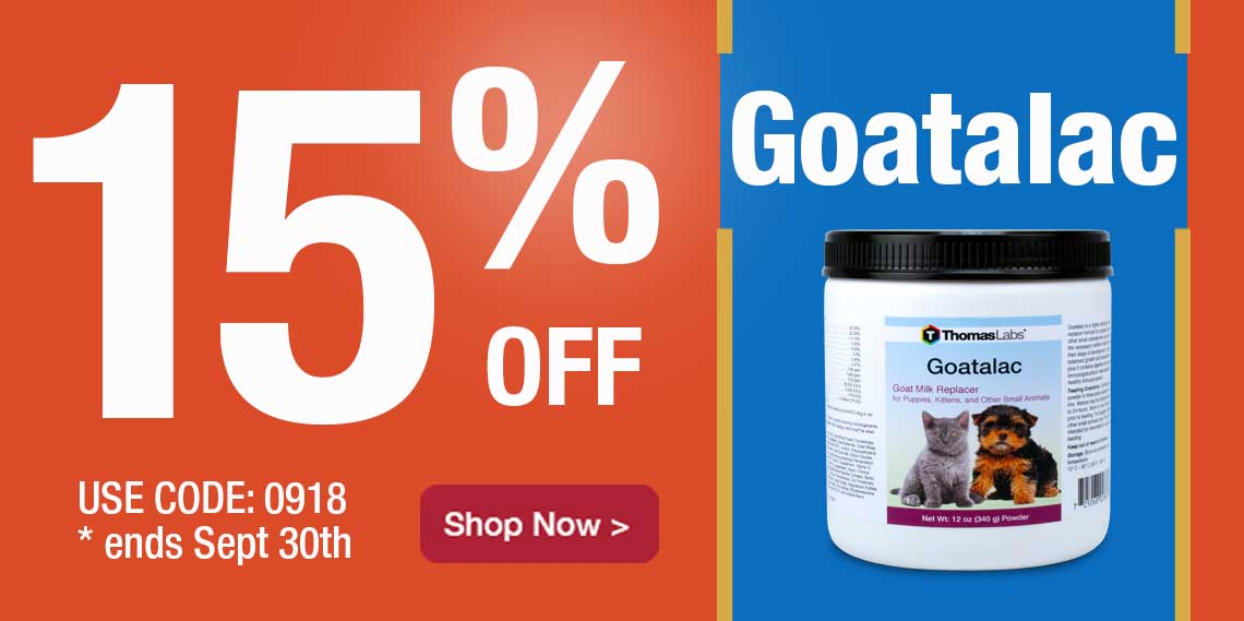 15% Off Goatalac Milk Replacer