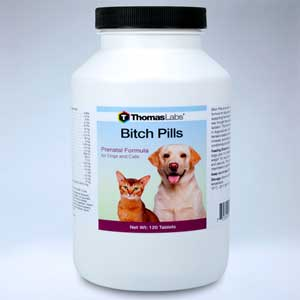 Bitch Pills 120 Tablets Dog Breeding and Pregnancy Prenatal and Post Birth Supplement