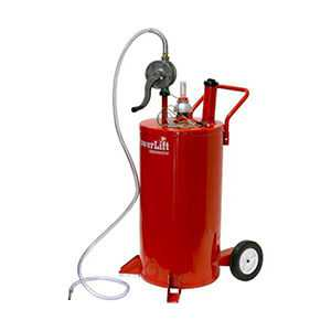 Gas Caddy Fuel Pump Gasoline Kerosene Diesel 35 Gallon Steel Body