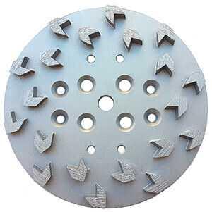"Diamond Grinding Disc 10"" Diameter Wheel with Arrow Segment"