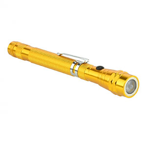 Magnetic Pickup Flex Head Telescope LED Flashlight