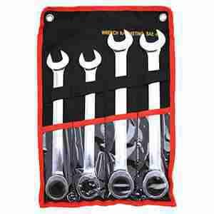 4 Pc. Combination Ratcheting Wrench Set Jumbo SAE Lifetime Warranty
