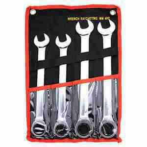 4 Pc. Combination Ratcheting Wrench Set Jumbo Metric Lifetime Warranty