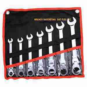 7 Pc. Combination Ratcheting Wrench Set Flex SAE Lifetime Warranty