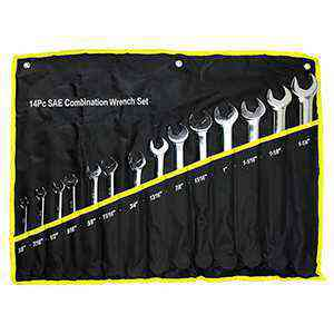 14 Pc Combination Wrench Set Long Pattern SAE