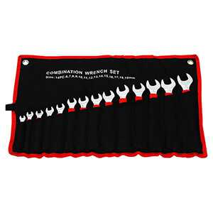 14 Pc. Combination Wrench Set Metric Long Handle Soft Grip 6 - 19mm