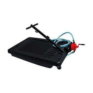 Oil Drain Pan Portable 17 Gallon Low Profile for Easy Change