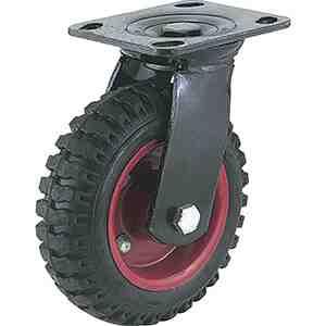 Caster Wheels – Outdoor Grass Rubber Knobby Swivel Steelex 6