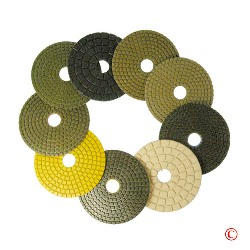 3 Wet Diamond Polishing Pads for Marble Granite and Stone