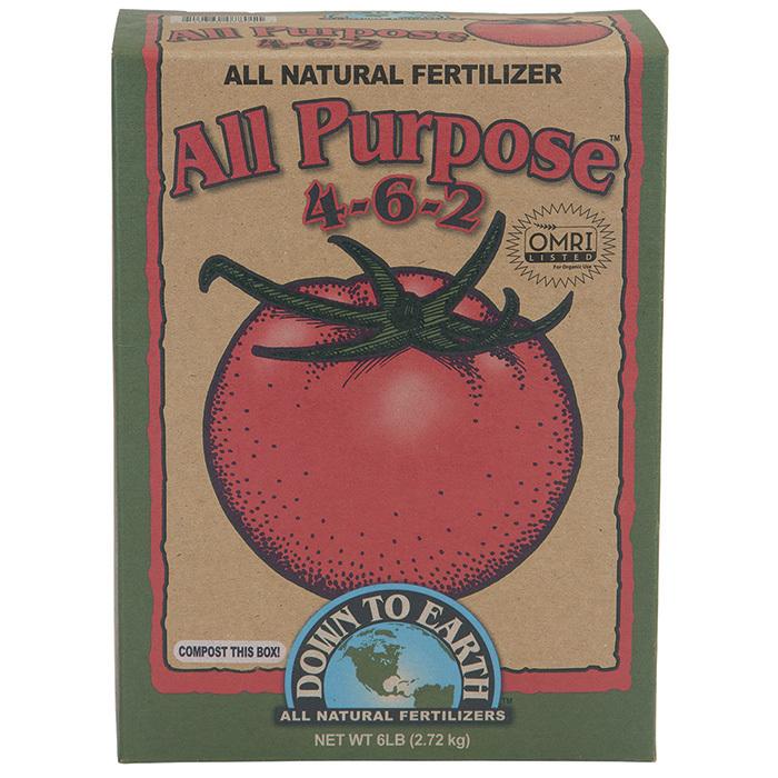 Down To Earth All Purpose Fertilizer 4-6-2
