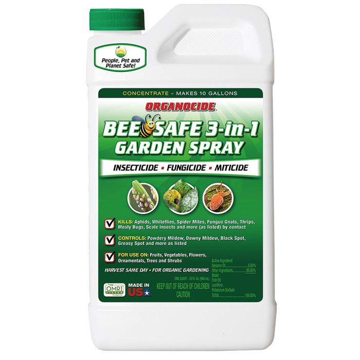 Organocide Bee Safe 3-In-1 Garden Spray