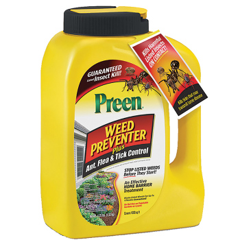 Preen Weed Preventer With Ant, Flea & Tick Control