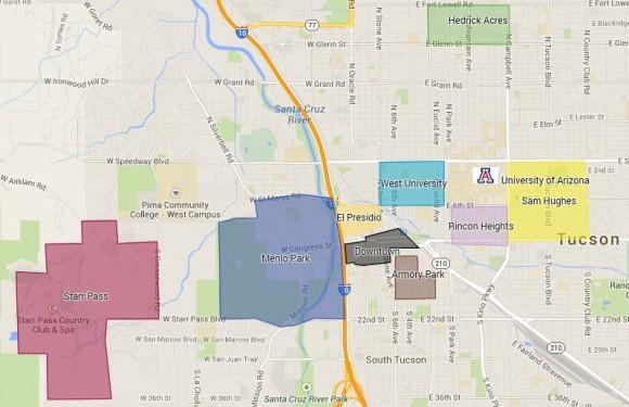 Map University Of Arizona.Neighborhood Guide The University Of Arizona Ucribs