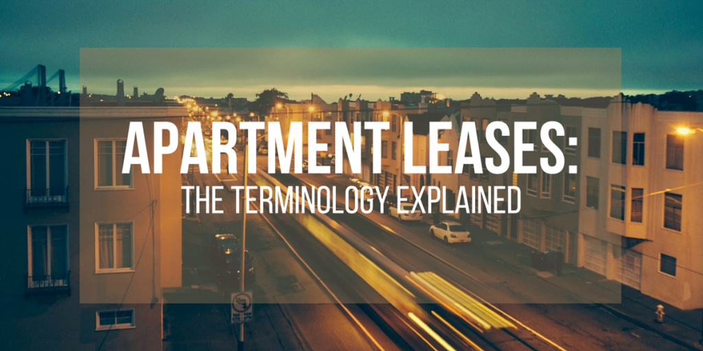 Apartment Leases The Terminology Explained Ucribs