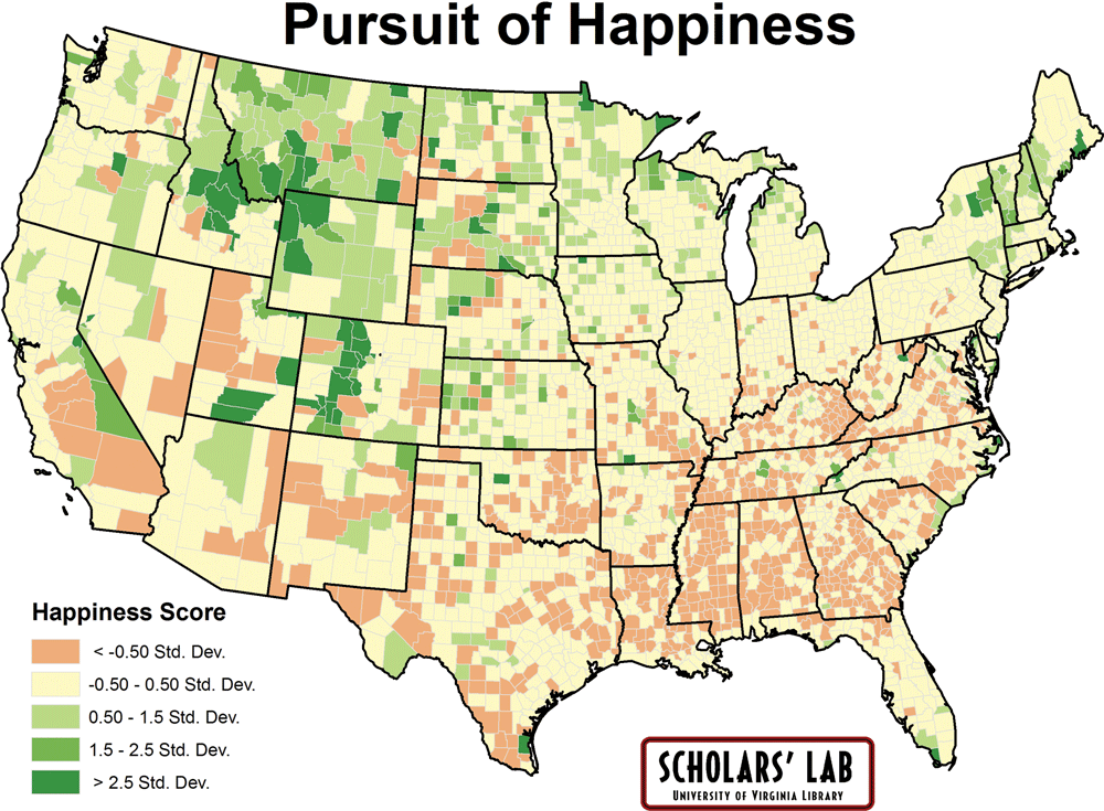 Map Of Happiness Virginia Magazine