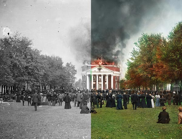Rotunda Fire: Colorized