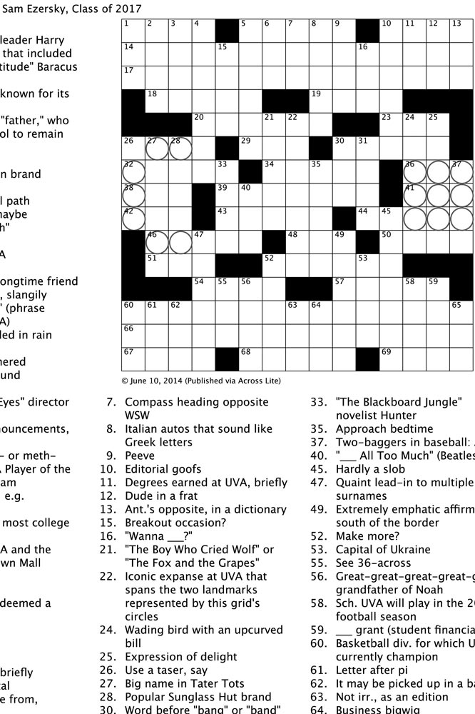 photograph regarding Ny Times Sunday Crossword Printable called Puzzle MasterVIRGINIA Journal
