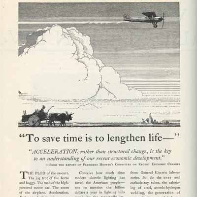 To Save Time is to Lengthen Life 1928-9