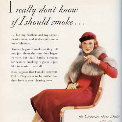 I Really Don't know if I should Smoke, 1932-33