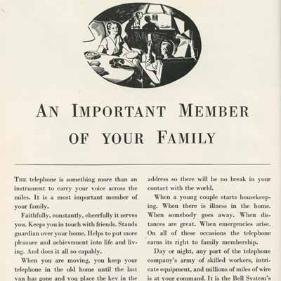 An Important Member of your Family 1932-33