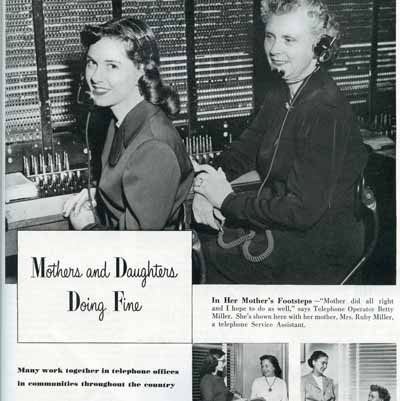 Mother/Daughter telephone ad