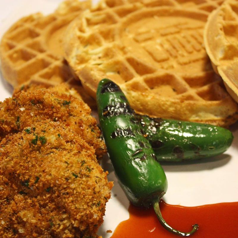O'Hill chicken and waffles