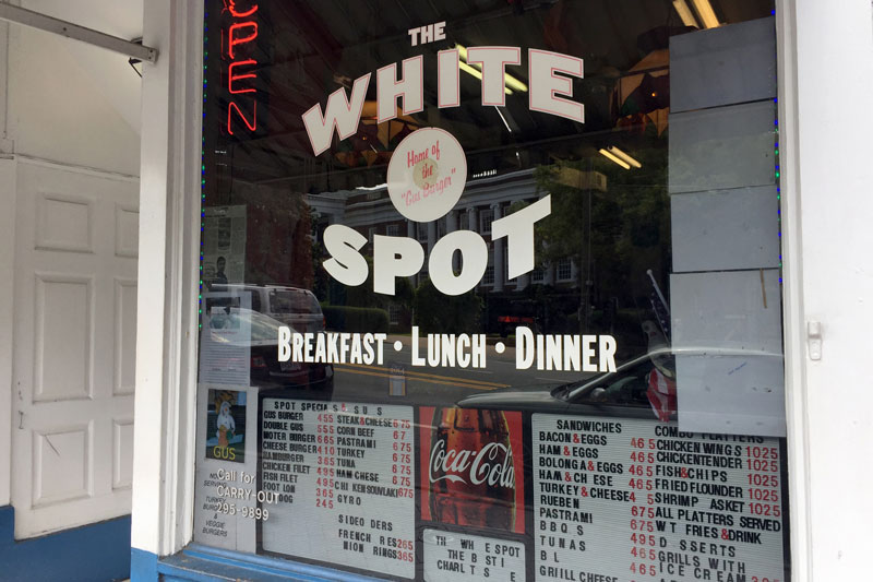 The White Spot restaurant on the Corner