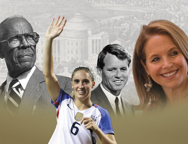 Notable alumni including Walter Ridley, Morgan Brian, RFK, and Katie Couric