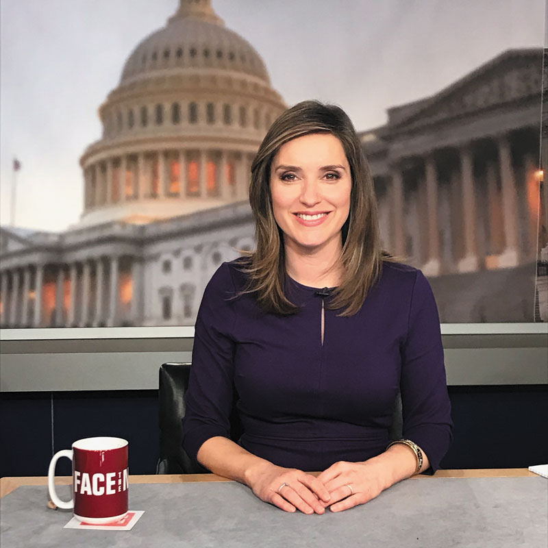 Face the Nation host Margaret Brennan (Col '02)
