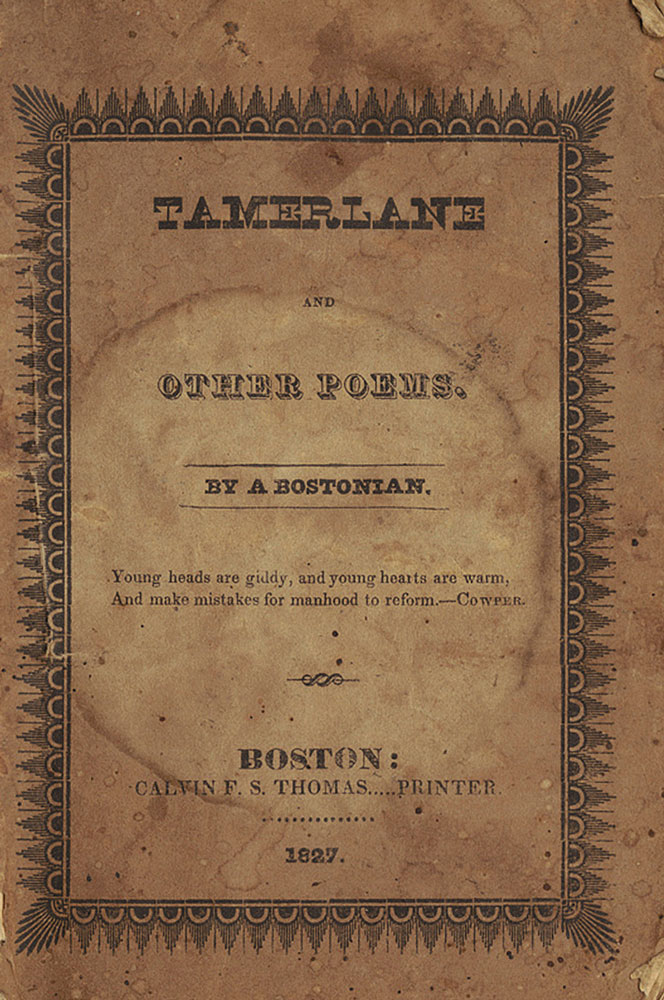 Tamerlane and Other Poems, Poe's first published book