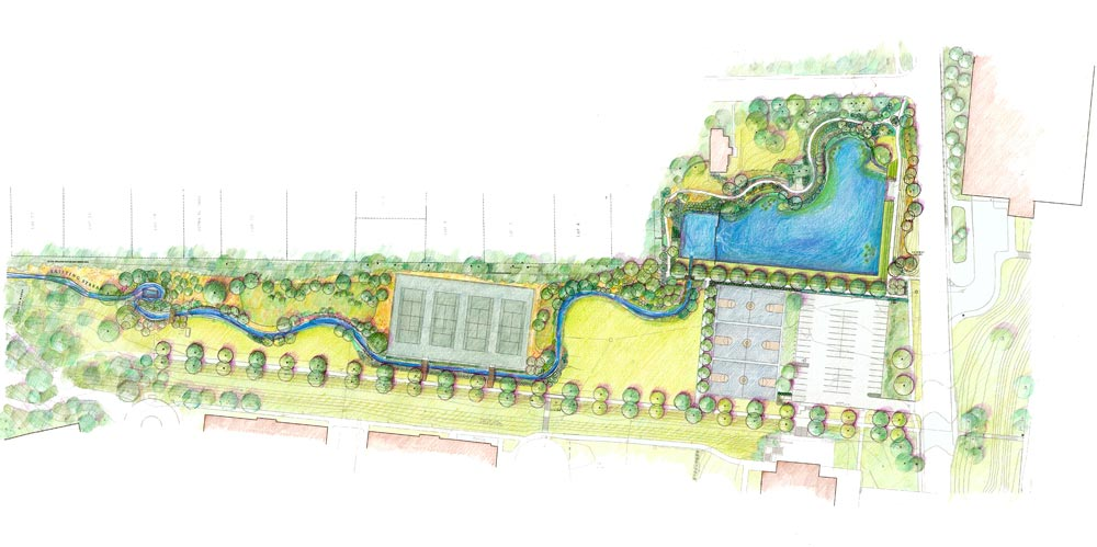 Architectural drawing of the Dell
