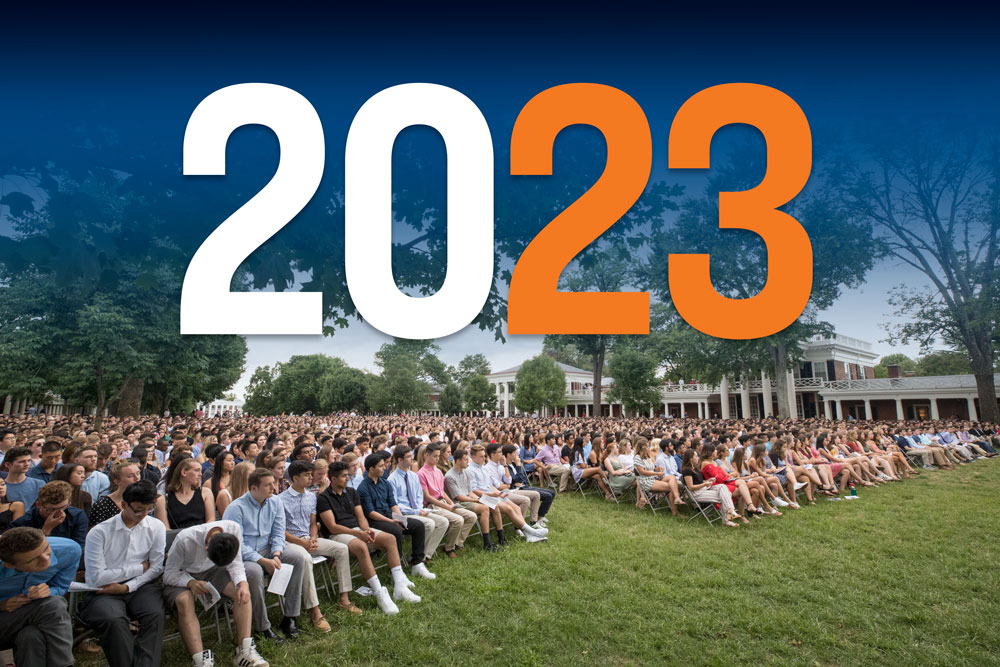 Members of the class of 2023 attend opening convocation