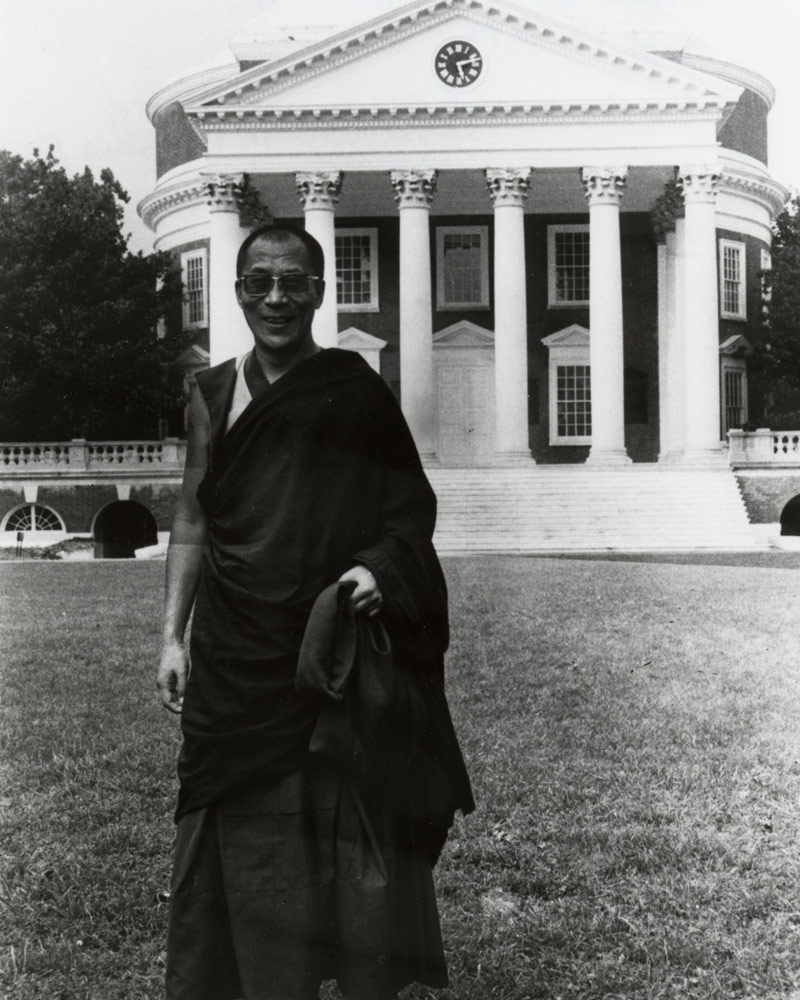 The Dalai Lama on the Lawn