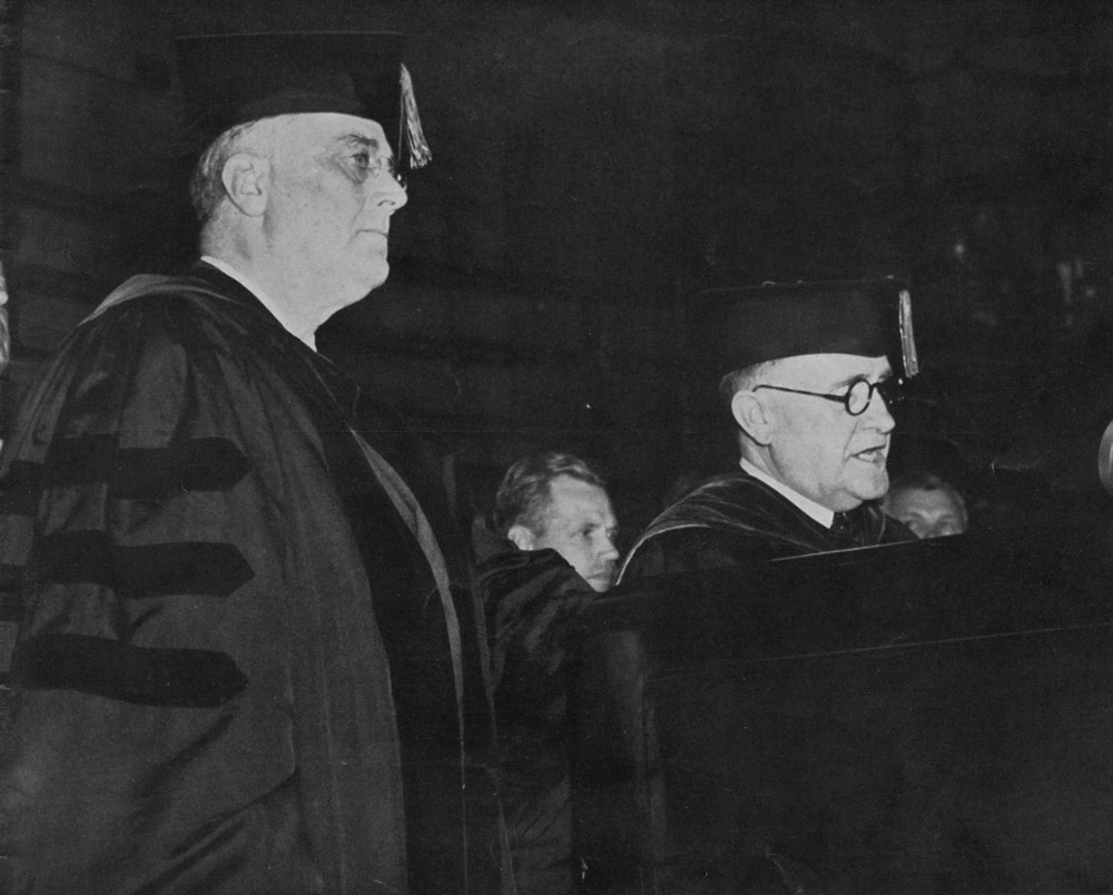 President Franklin Delano Roosevelt at Memorial Gymnasium