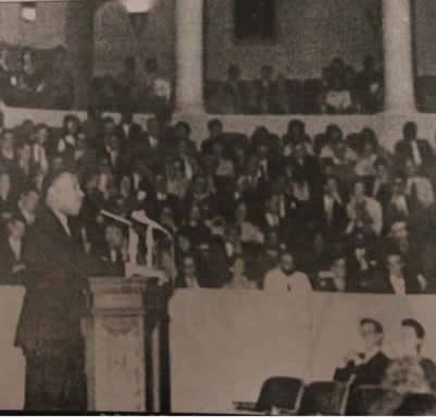 Martin Luther King Jr. speaking in Old Cabell Hall